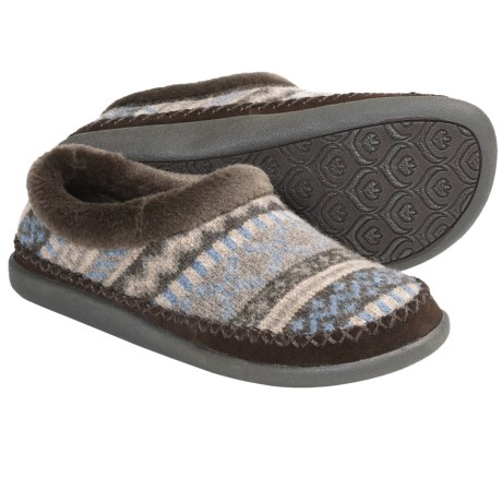 Daniel Green Adelyn Slippers - Lambswool (For Women) in Chocolate