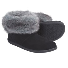Daniel Green Cecilia Slipper Boots - Suede (For Women) in Black - Closeouts