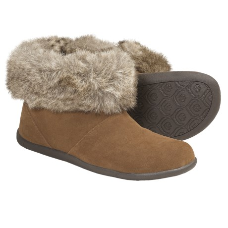 Daniel Green Cecilia Slipper Boots - Suede (For Women) in Brown