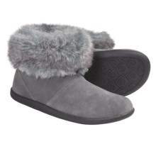 Daniel Green Cecilia Slipper Boots - Suede (For Women) in Grey - Closeouts