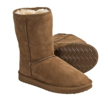 Daniel Green Dolly Boots - Shearling (For Women) in Chestnut - Closeouts