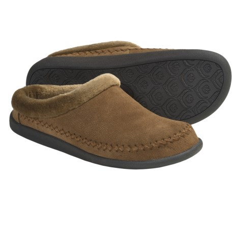 Daniel Green Geneva Slippers - Suede, Fleece Lining (For Women) in Brown