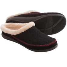 Daniel Green Hildie Slippers - Boiled Wool (For Women) in Black - Closeouts
