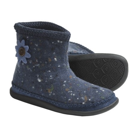 Daniel Green Piper Slipper Boots - Wool, Fleece-Lined (For Women) in Grey