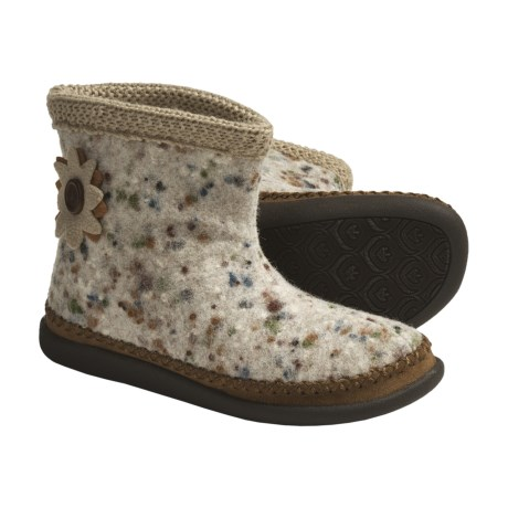 Daniel Green Piper Slipper Boots - Wool, Fleece-Lined (For Women) in Oatmeal