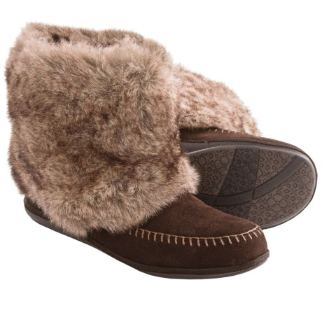 Daniel Green Trista Slipper Boots (For Women) in Chestnut