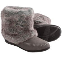 Daniel Green Trista Slipper Boots (For Women) in Grey - Closeouts