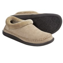 Daniel Green Vienna Slippers - Suede, Fleece Lining (For Women) in Natural - Closeouts