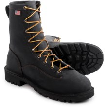 "Danner Bull Run Work Boots - 8"", Steel Toe (For Men) in Black - Closeouts"