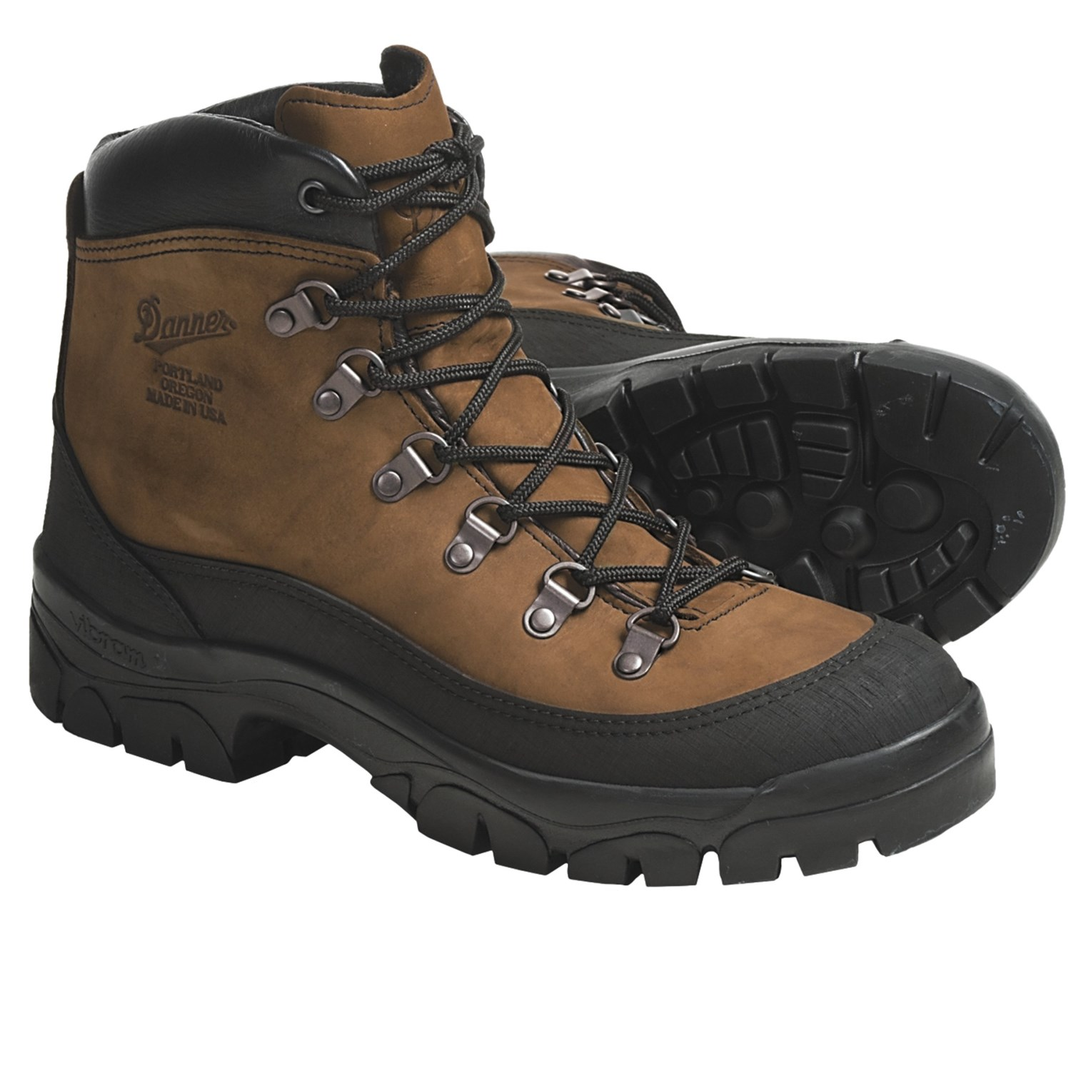 Military Boots - Waterproof, Leather (For Men and Women) in Brown