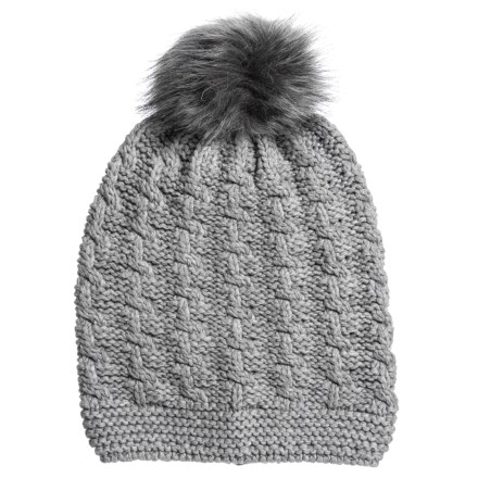 7f1d292b8de DANNY SEO Texture Stitch Hat (For Women) in Heather Grey - Closeouts