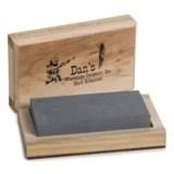 "Dan's Whetstone Hard Arkansas Whetstone - Wooden Storage Box, 4x2x3/4"""