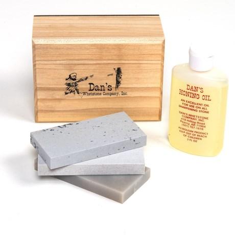 Dan's Whetstone Soft/Hard/Translucent Arkansas Bench Stone Combination Set in See Photo