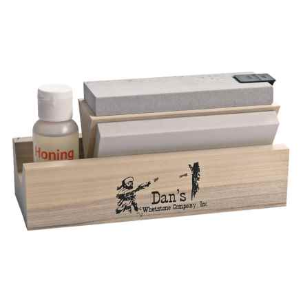 Dan's Whetstone Tri-Hone Knife Sharpening Stone System in See Photo - 2nds