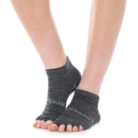 Danskin Grippy Toeless Yoga Socks - Ankle (For Women)