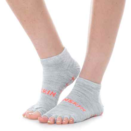 Danskin Grippy Toeless Yoga Socks - Ankle (For Women) in Grey/Pink - Closeouts