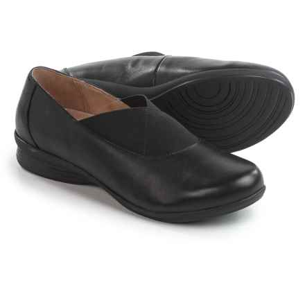 Dansko Ann Twin Goring Shoes - Leather, Slip-Ons (For Women) in Black Nappa - Closeouts