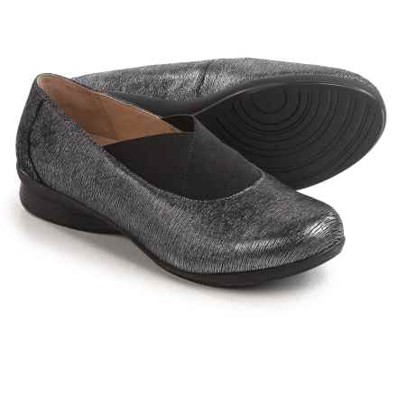 Dansko Ann Twin Goring Shoes - Leather, Slip-Ons (For Women) in Pewter - Closeouts