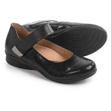 Dansko Audrey Mary Jane Shoes - Leather (For Women) in Black Crackle - Closeouts