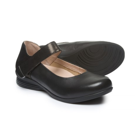 Dansko Audrey Mary Jane Shoes - Leather (For Women) in Black Nappa
