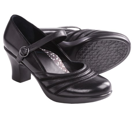 Dansko Becky Mary Jane Shoes - Leather (For Women) in Black Nappa