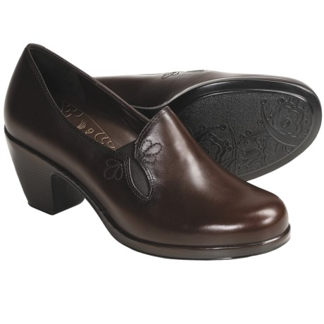 Dansko Beth Shoes - Leather, Slip-Ons (For Women) in Brown