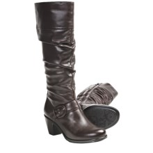 Dansko Brielle Leather Boots (For Women) in Chocolate Nappa - Closeouts
