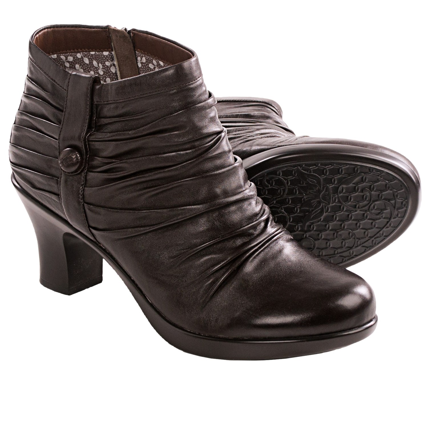 dansko buffy ankle boots for in brown nappa