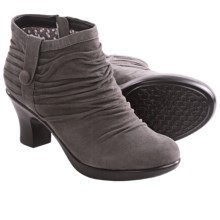 Dansko Buffy Ankle Boots (For Women) in Grey Kid Suede - Closeouts