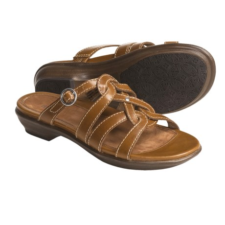 Dansko Cammie Sandals - Full-Grain Leather (For Women) in Toast