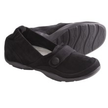 Dansko Carol Shoes - Leather, Slip-Ons (For Women) in Black Kid Suede - Closeouts