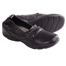 Dansko Carol Shoes - Leather, Slip-Ons (For Women) in Black Nappa - Closeouts
