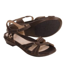 Dansko Caroline Leather Sandals (For Women) in Espresso Oily Nubuck - Closeouts