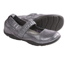 Dansko Chrissy Mary Jane Shoes - Leather  (For Women) in Pewter Shimmer Suede - Closeouts