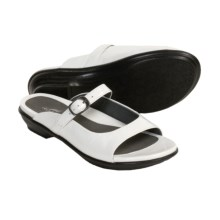 Dansko Colette Sandals - Leather (For Women) in White Crinkle Patent - Closeouts