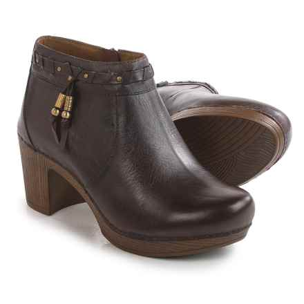 Dansko Dabney Ankle Boots - Leather (For Women) in Chocolate - Closeouts