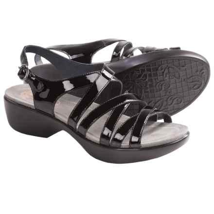 Dansko Dani Sandals - Leather (For Women) in Black Patent - Closeouts