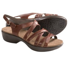Dansko Dani Sandals - Leather (For Women) in Brown Burnished - Closeouts