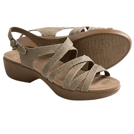 Dansko Dani Sandals - Leather (For Women) in Taupe Ice