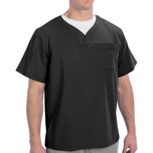 Dansko Daniel V-Neck Scrub Top - Short Sleeve (For Men) in Black - Closeouts