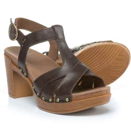 Dansko Daniela Sandals - Leather (For Women) in Teak Vintage - Closeouts