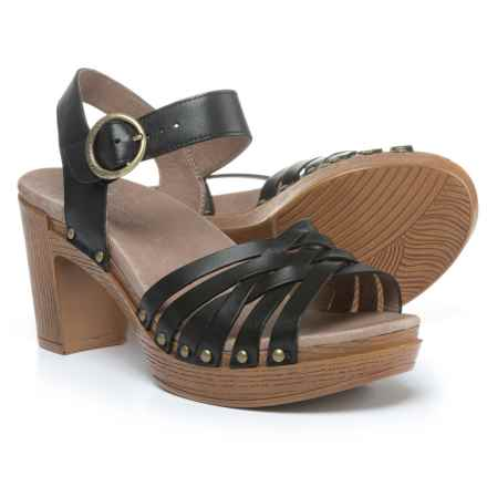 Dansko Dawson Sandals - Leather (For Women) in Black - Closeouts