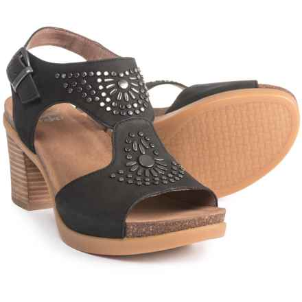 Dansko Deandra Sandals - Nubuck (For Women) in Black Nubuck - Closeouts