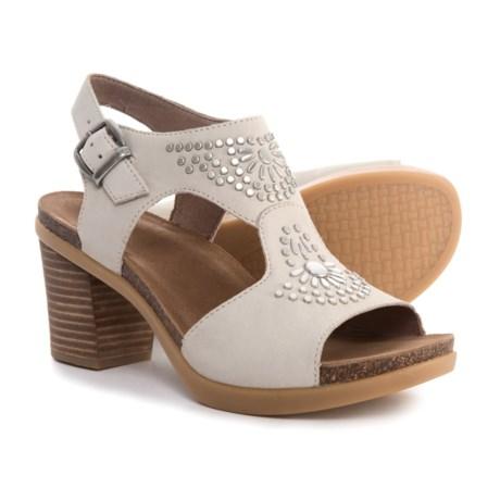 Dansko Deandra Sandals - Nubuck (For Women) in Ivory