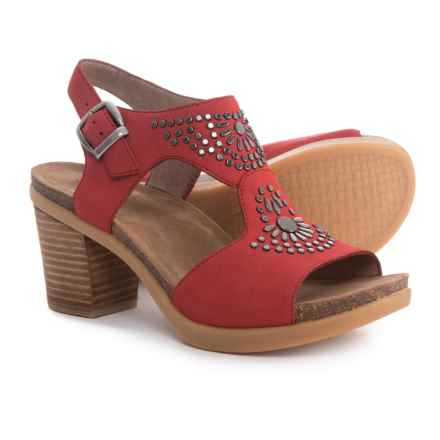 Dansko Deandra Sandals - Nubuck (For Women) in Red - Closeouts