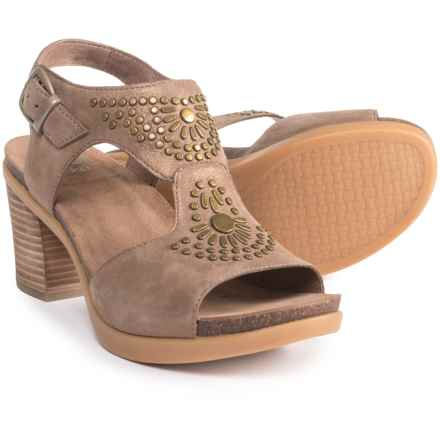 Dansko Deandra Sandals - Nubuck (For Women) in Taupe Shimmer - Closeouts
