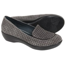 Dansko Debra Shoes - Leather (For Women) in Grey Houndstooth Suede - Closeouts