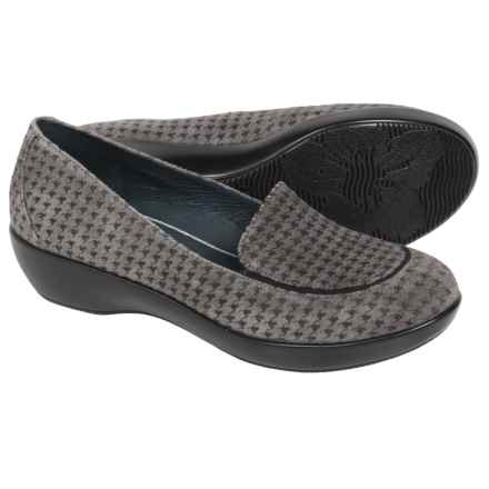 Dansko Debra Shoes - Leather, Slip-Ons (For Women) in Grey Houndstooth Suede - Closeouts