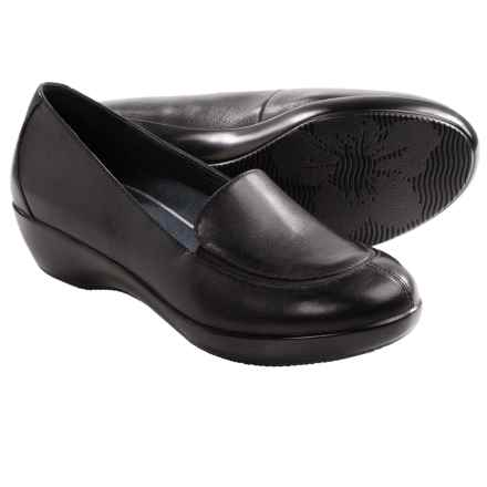 Dansko Debra Shoes - Leather, Slip-Ons (For Women) in Nappa Black - Closeouts