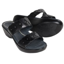Dansko Dee Leather Sandals (For Women) in Black Full Grain - Closeouts